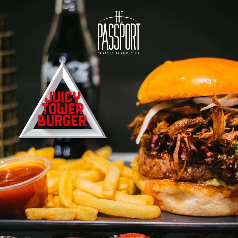 Juicy tower burger