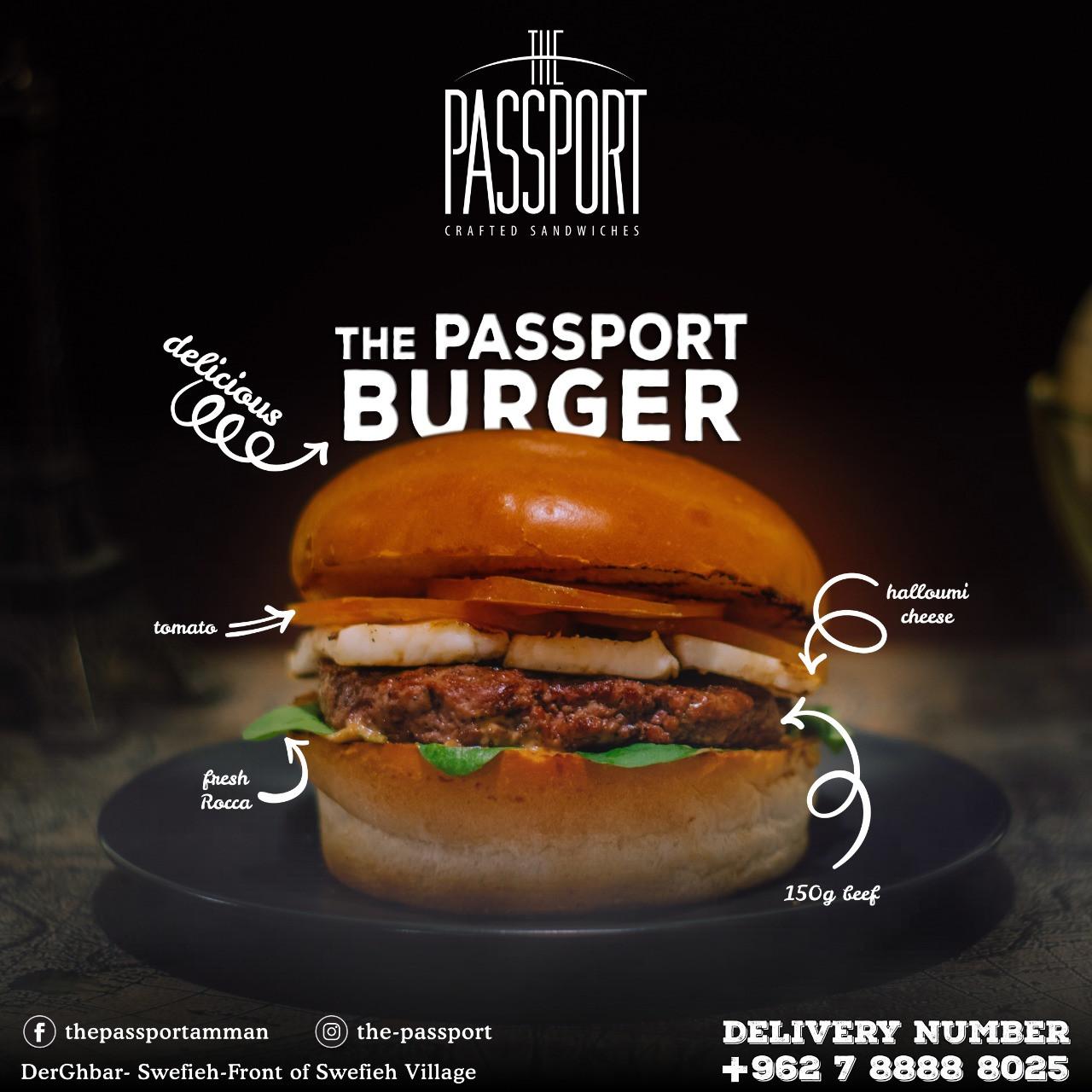 The Passport burger
